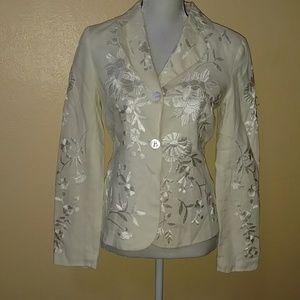 Size 4 Spiegel's brocade Rose jacket